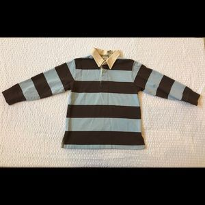 L.L. Bean Striped Rugby Style Long Sleeved Shirt
